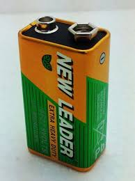 9V battery new leader