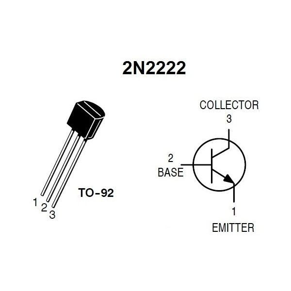 The data sheet for the 2n2222 discrete npn bjt pro. | chegg. Com.