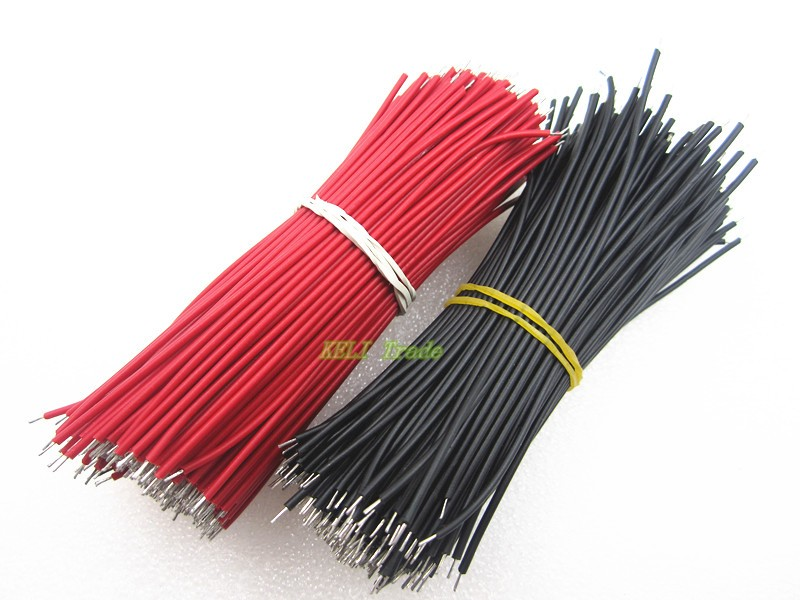 Breadboard Jumper Cable Wires Tinned 0.96cm 20pcs - Robotech Shop